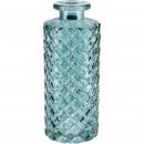 Glass Bottle Petite, D5,5cm, H13,5cm, petrol